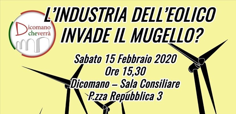 L'industria dell'eolico invade il Mugello?