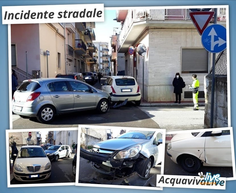 Incidente stradale in paese