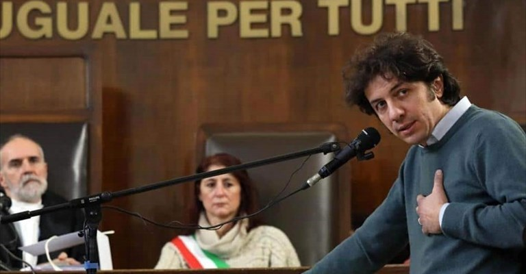 Marco Cappato in Tribunale