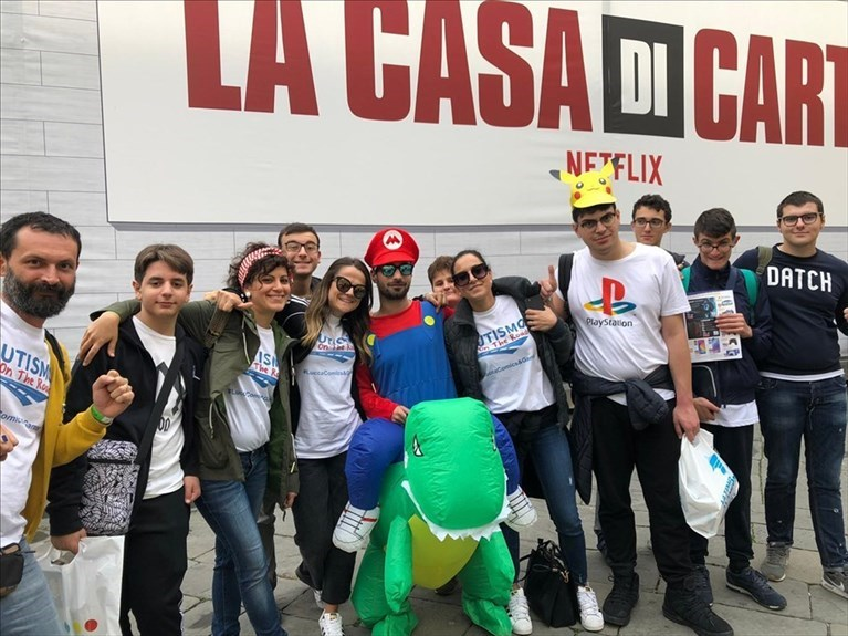 I ragazzi di Autismo On The Road al Lucca Comics and Games