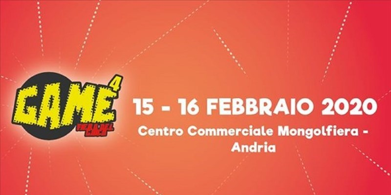 """GAME – Fiera del gioco, fumetto e cosplay"" ad Andria"