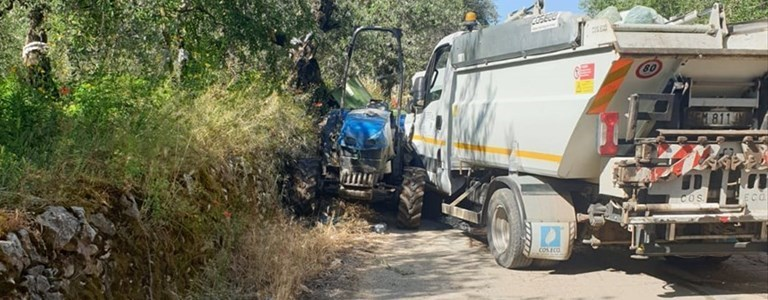 Incidente in via Montefaraone e c.da Macchia di Rosa