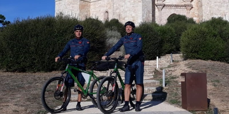 I Carabinieri in mountain bike a guardia del Parco Alta Murgia