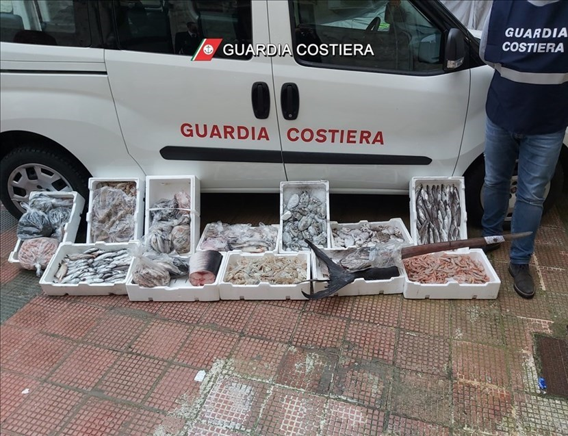 Pesce sequestrato dalla Guardia Costiera