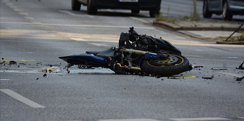 Incidente moto. Foto di repertorio