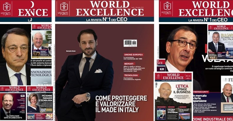 ​Bernardo Bruno conquista la copertina di World Excellence