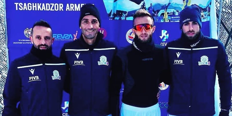 Europei di snow volley, i vastesi del TeamIta battono la Georgia 2-1