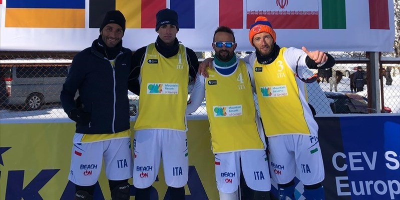Europei di snow volley, i vastesi del TeamIta battono la Svizzera 2-0