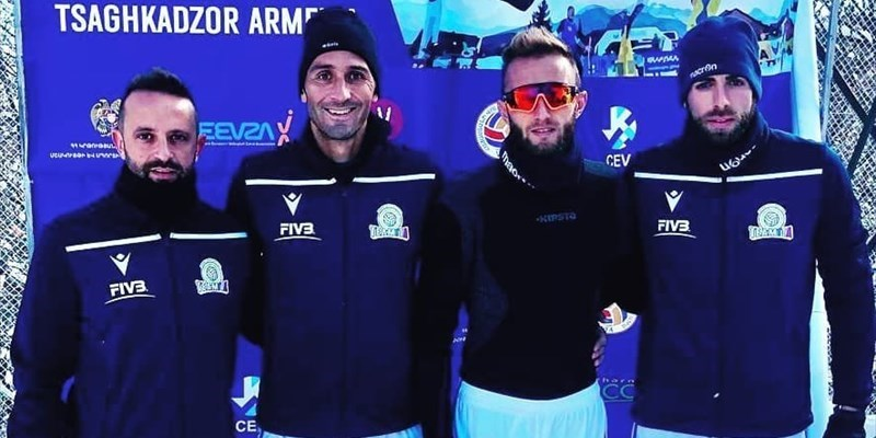Europei di Snow Volley, i vastesi del TeamIta in Georgia chiudono al 7° posto