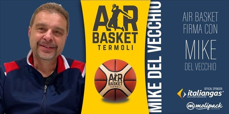 Air basket Termoli firma con Mike Del Vecchio