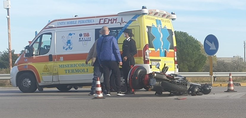 L'incidente in via Pertini