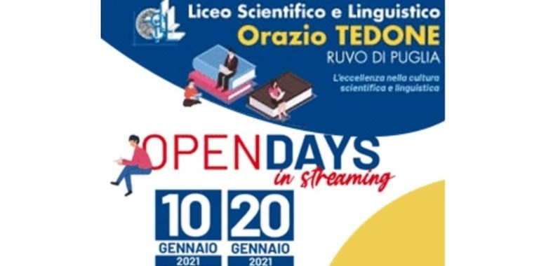 "In streaming l'Open Day del Liceo ""Tedone"""