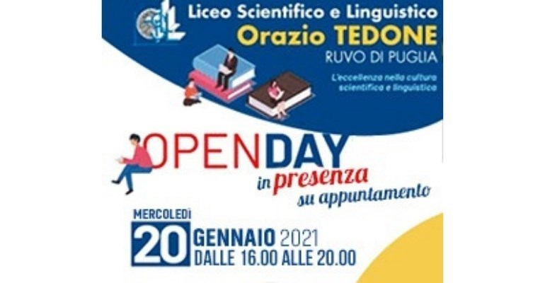 "Liceo ""Tedone"": oggi l'ultimo open day è in presenza"